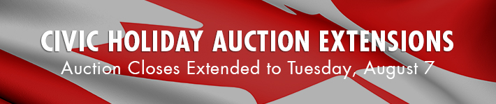 Civic Holiday Auction Extensions Schedule